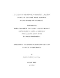 An analysis of the Aristotelian rhetorical appeals of ethos
